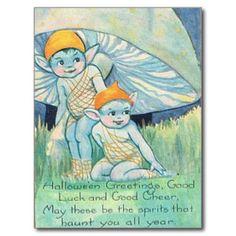 Halloween Poem Wish - Forest Pixie Card