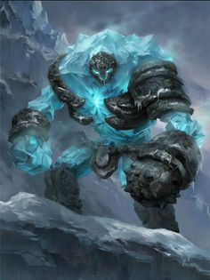 Goarus: The Crag Lord (mountains, snow, travel) Dark Fantasy Art, Fantasy Rpg, Fantasy Artwork, Fantasy World, Monster Art, Monster Design, Ice Monster, Creature Concept Art, Creature Design