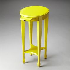 Butler Specialty Loft Arielle Round End Table In Yellow 1483289 Accent