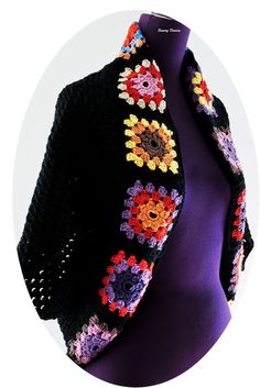 Crochet Granny Square Shrug is a little something I made for my winter wardrobe. The pattern is from Panda (Yarns) Crochet Modern Vintage book Read more. Granny Square Crochet Pattern, Crochet Squares, Crochet Granny, Crochet Baby, Crochet Patterns, Granny Squares, Granny Square Sweater, Crochet Jacket, Crochet Cardigan