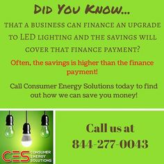 #Wow ! Did you know that upgrading to #LED lighting could virtually pay for itself?  Call CES Inc. today to find out how!  #CES #savings