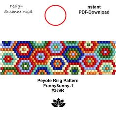 DETAILS: - endless pattern - adjustable ring length Peyote ring pattern - even count Sizes: cm x cm / x cm x cm / x - Beads: Miyuki Delica >>>>>>>>>>>>> Coupons-codes: <<<<<<<<<<< Peyote Beading Patterns, Peyote Stitch Patterns, Loom Patterns, Loom Beading, Bracelet Patterns, Art Patterns, Jewelry Patterns, Embroidery Patterns, Knitting Patterns