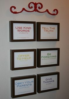 Family rules w/ Bible Verses. Like the idea with a different presentation.