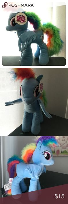 New Large Size! My Little Pony - Rainbow 🌈 Dash New Large Size! This 16 My Little Pony is big enough to cuddle and play with and bigger than previous releases. From the manufacturer of Hasbro collection. My Little Pony plush characters are on every girl's wish list! These ponies have Personality... My Little Pony where Friendship is Magic! My Little Pony Other