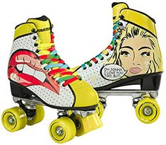 Shop Powerslide Women's Blondie Roller Skates-Yellow, Size Free delivery and returns on all eligible orders. Outdoor Roller Skates, Retro Roller Skates, Quad Roller Skates, Roller Derby, Roller Skating, Skater Girl Outfits, Skater Girls, Rollers, Roller Quad