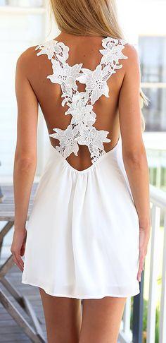 Criss cross crochet dress