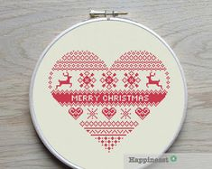 cross stitch pattern nordic bear Scandinavian modern by Happinesst