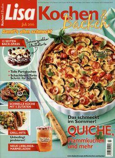 Quiche, Flammkuchen und mehr. Gefunden in: Lisa Kochen & Backen, Nr. 7/2016