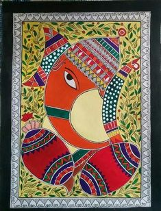 Ganapati, Mithila Art - Buy Modern Art Paintings at best price of Rs from Sangeeta Enterprises. Also find here related product comparison Madhubani Paintings Peacock, Madhubani Art, Indian Art Paintings, Ganesha Painting, Ganesha Art, Art Forms Of India, Lotus Art, Indian Folk Art, Buddha Art
