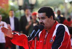 O vice-presidente da Venezuela, Nicolás Maduro, durante comício de apoio a Hugo Chávez nesta quinta-feira (10) em Caracas (Foto: Reuters)