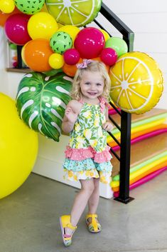 Search thousands of Qualatex latex balloons, Microfoil®, and Bubble Balloon® in trendy colors and designs. Accessories for the balloon professional. 2nd Birthday Party For Girl, Fruit Birthday, Farm Birthday, Fruit Party, Luau Party, Tutti Fruity Party, Happy Balloons, Balloon Decorations Party, Tropical Party