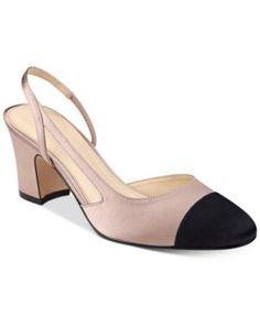 Ivanka Trump Liah Slingback Block-Heel Pumps - Pink 11M