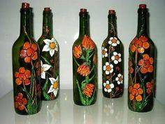 El Arte de Reciclar: Botellas pintadas