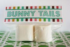 Marshmallow bunny tails