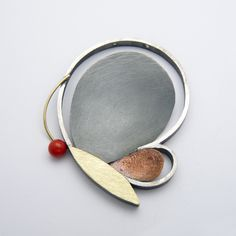 """Lluís Comín, 2013 Brooch in silver, gold, copper and coral - """"BUTTERFLY COLLECTION"""""""