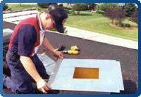 RoofSeal is the best solution for leak repair. It is the choice of professional roof repair specialists, on virtually all roof types including EPDM, TPO, hypalon, most PVC, modified, all metals, even copper and kinor coated metals, tile.