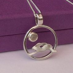 Running Hare Circle Pendant Necklace £55.00