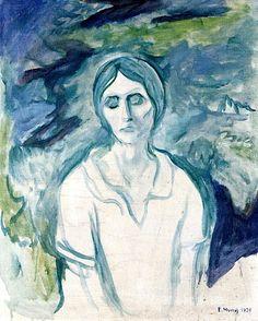 The Athenaeum - The Gothic Girl Edvard Munch - 1924 Edvard Munch, Karl Schmidt Rottluff, Franz Marc, Kunst Online, Amedeo Modigliani, Post Impressionism, Wassily Kandinsky, Gothic Girls, Oslo