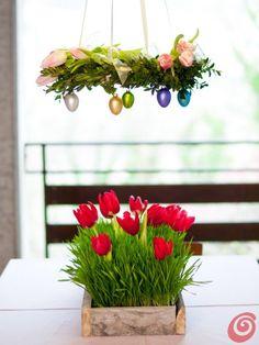 Una Pasqua a puntini: la tavola imbandita a festa