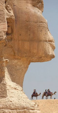 The Sphinx, Cairo, Egypt. I have always wanted to go to Egypt and I do want to see this masterpiece before it disappears.