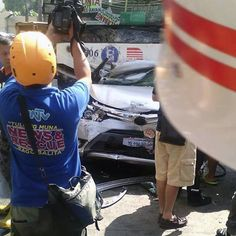 Car pinned by bus on EDSA is most horrific thing you'll see this week Top Gear, Automotive Industry, Car, Photography, Automobile, Photograph, Fotografie, Photoshoot, Autos