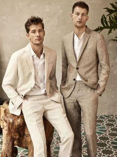 17 ideas wedding suits men linen casual wedding wedding suits men summer moda masculina 52 new ideas wedding moda Linen Suits For Men, Khaki Suits, Suit For Men, Cool Mens Suits, Mens White Linen Suit, Man In Suit, Male Suit, Men's Suits, Moda Masculina