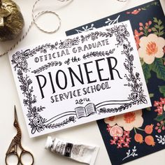 Pioneer Service School graduation cards are finally up!