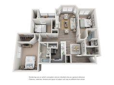 apartment floor plans Floor Plans - Jefferson at Perimeter Sims House Plans, House Layout Plans, Craftsman House Plans, Small House Plans, House Layouts, House Floor Plans, House Floor Design, Sims House Design, Home Room Design