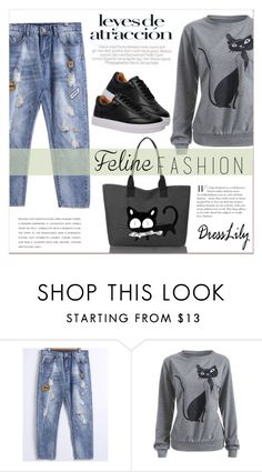 """""""Dresslily"""" by water-polo ❤ liked on Polyvore featuring polyvoreeditorial and catstyle"""