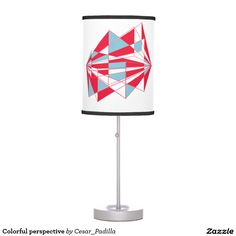 Colorful perspective table lamps
