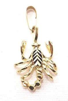 14k Solid Gold Scorpion Pendant Charm Animal Insect Free Shipping  #Pendant