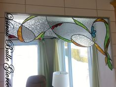 Stained Glass Mirror, Mirror Mosaic, Stained Glass Panels, Stained Glass Projects, Stained Glass Patterns, Mosaic Glass, L'art Du Vitrail, Tuscany Decor, Valance