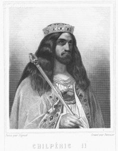 Chilperic II - King of Neustria 715-721 King of all Franks 719-720. Chiperic II raised in a monastery under the name Daniel to keep him safe from family fueding.  Chiperic II was made king at age 43.  He was strong enough to rule as an actual king along side the mayor of the palace Ragenfrid and he ruled until his death in 721.