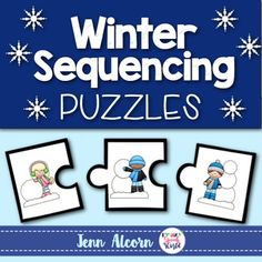 Winter Sequencing Puzzles are perfect for the time of year, as well as for targeting multiple skills in your speech therapy sessions.  Your students can work on sequencing, pronouns, verb tense, vocabulary, articulation carryover, and so much more!  Included in the download: 8 Color Sequences  8 Black/White Sequences 4 Student worksheetsSequences included:  wrapping a gift, baking cookies, building a snowman (2), making instant hot chocolate, make hot chocolate on the stove, cutting down a…