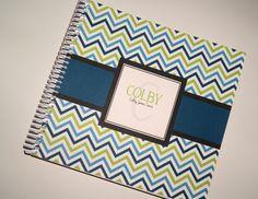 Personalized Spiral Bound Baby Book  Blue & by PolkaDotPrintShop, $37.50