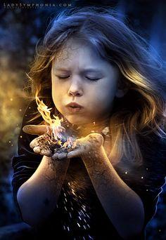 guerreros fantasticos niña del fuego