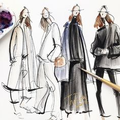 « Today's sketchy warm ups @therow pre-fall 15 collection »