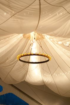 My Used Army Parachutes Christmas Lights And Chandeliers Made The Weddings