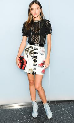 Miranda Kerr nailed one of this season's most daring trends in the Louis Vuitton SS15 collection... http://po.st/OytkbR