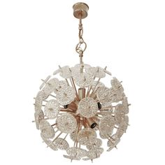 Belgium Snowflake Sputnik Chandelier Crystal Glass 1960   From a unique collection of antique and modern chandeliers and pendants  at http://www.1stdibs.com/furniture/lighting/chandeliers-pendant-lights/