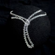 S2 - Fine Silver Lace Necklace/Choker. $400.00, via Etsy.