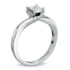 Cherished Promise Collection™ 1/5 CT. T.W. Princess-Cut Quad Diamond Promise Ring in 10K White Gold - View All Rings - Zales