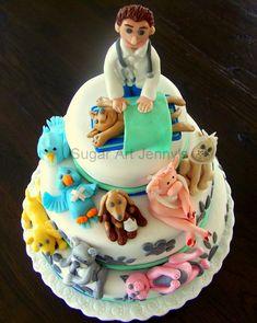 Veterinarian cake - for when I graduate from vet school :) Vet Cake, Dog Cakes, Veterinary Medicine, Celebration Cakes, Graduation Celebration, Occasion Cakes, Cute Cakes, Creative Cakes, Cupcake Cookies
