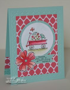Stampin Up For the Birds & Floer Shop birthday card