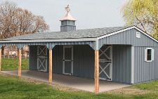 12x36 Stall Barn with 10ft Lean-to - Capitol Sheds