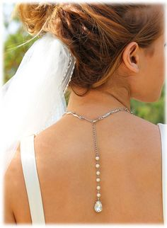 Beautiful jewelry for an open back dress