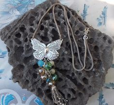Silver Butterfly Necklaces .A perfect gift by ArtFiligreeKosHellas