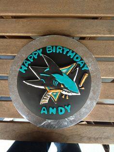 San Jose Sharks birthday cake. #SanJoseSharksFood #SanJoseSharks #SharksTerritory