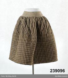 Swedisch cotton petticoat, ca. 1850's. | Europeana