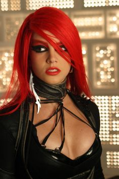 "Red hair — ""Toxic"" music video."